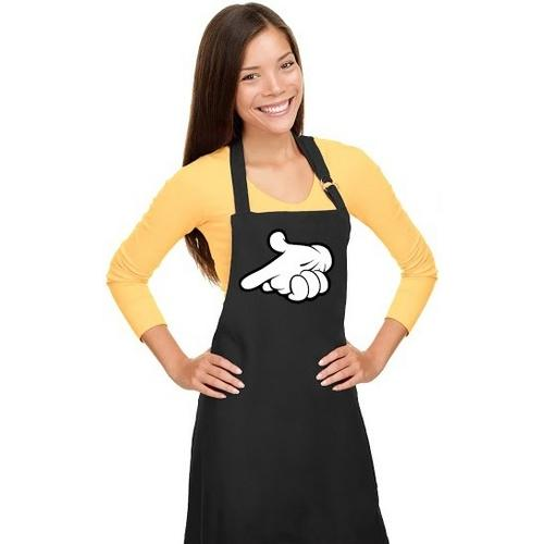 Cartoon Hand Gun Apron
