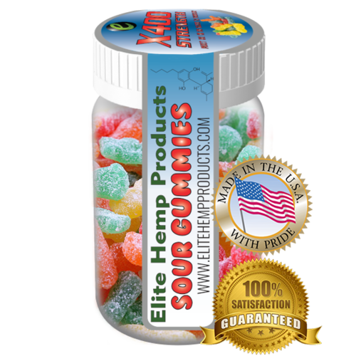 Elite Gummies Hemp Infused Sour Gummy x400 Strength (Classic)