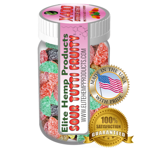 Elite Gummies Hemp Infused Gummy Fruits x400 Strength (Classic)