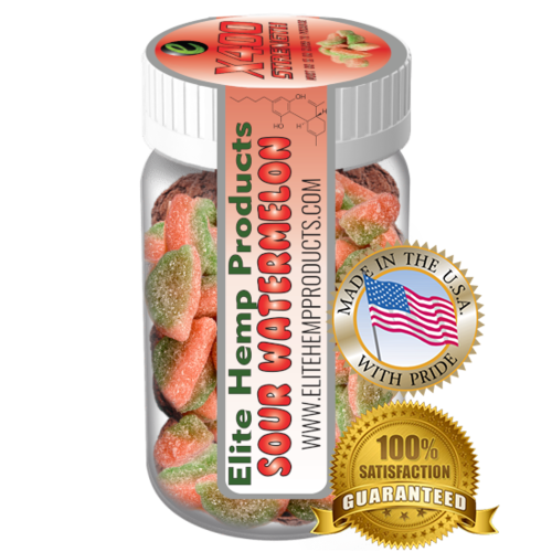 Elite Gummies Hemp Watermelon Gummy x400 Strength (Classic)