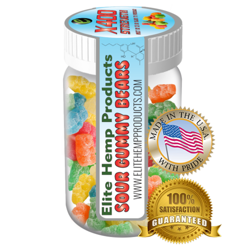 Elite Gummies Hemp Infused Gummy Bear x400 Strength (Classic)