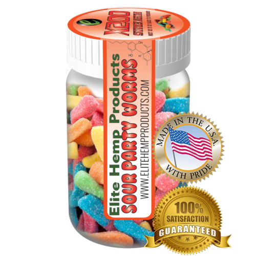 Elite Hemp Gummies Hemp Infused Worm Gummies x200 Strength (Classic)