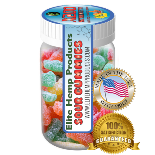 Elite Hemp Gummies Hemp Infused Sour Gummy x200 Strength (Classic)