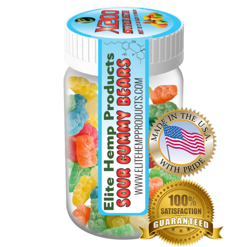 Elite Hemp Gummies Hemp Infused Gummy Bear x200 Strength (Classic)