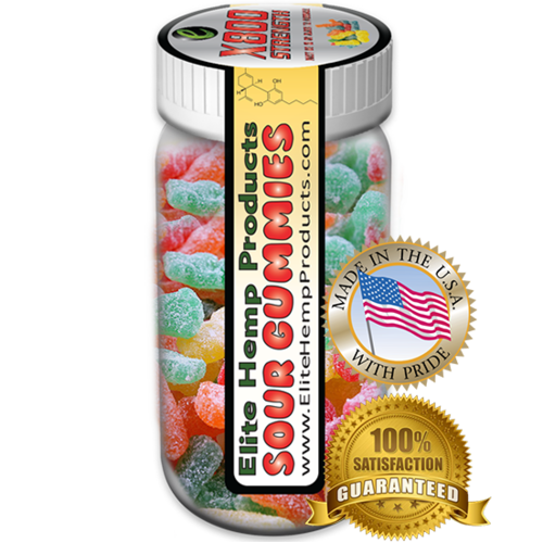 Elite Hemp Gummies Hemp Infused Sour Gummy x800 Strength (Classic)