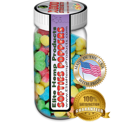 Elite Hemp Gummies Hemp Infused Gummy Poppers x800 Strength (Classic)