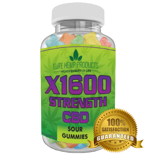 Hemp Gummy Bears x1600 Strength