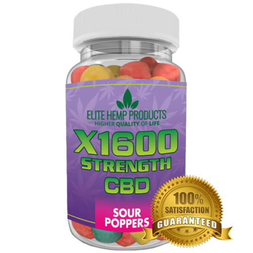 Hemp Gummy Sour Poppers x1600 Strength