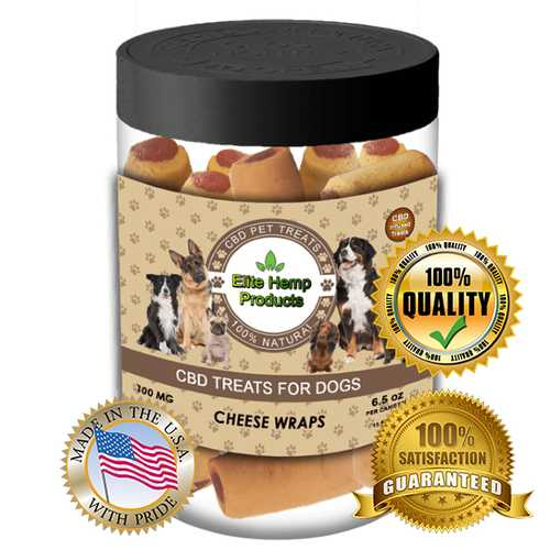 Hemp Supplements for Dogs Anxiety Calming Bites with Dried Cheese Products & Hemp