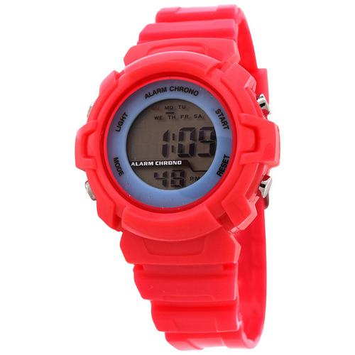 FMD by Fossil Ladie's Standard 3-Hand Analog Plastic Watch-Pink Color