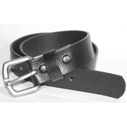"Mens Heavy Duty Black Leather Belt 1 1/4"" Wide"