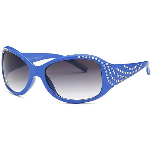 Large Rhinestone Polarized Sunglasses