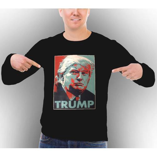 Classic Donald Trump Portrait Long Sleeve Shirt