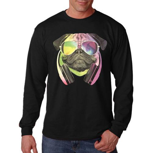 Colorful D.J Pug Long Sleeve Shirt