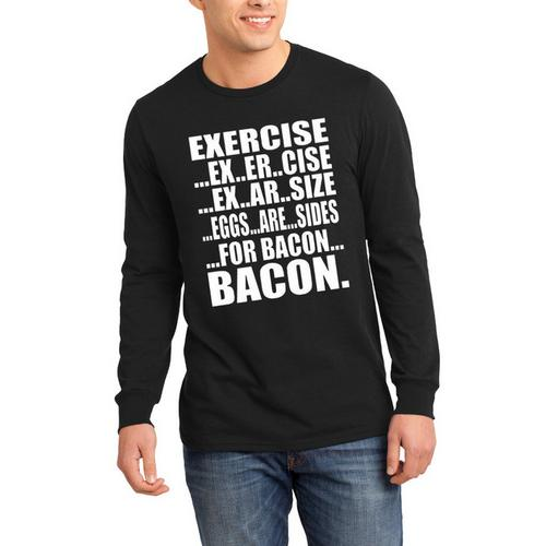 Exercise Bacon Long Sleeve Shirt