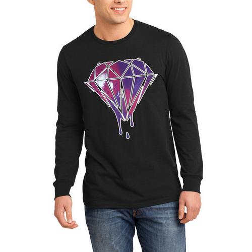 Dripping Diamond Galaxy Long Sleeve Shirt