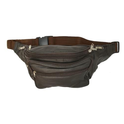 Unisex Soft Leather Fanny Pack