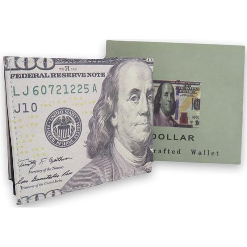 Handcrafted 100$ Bill Bi-fold Leather Wallet