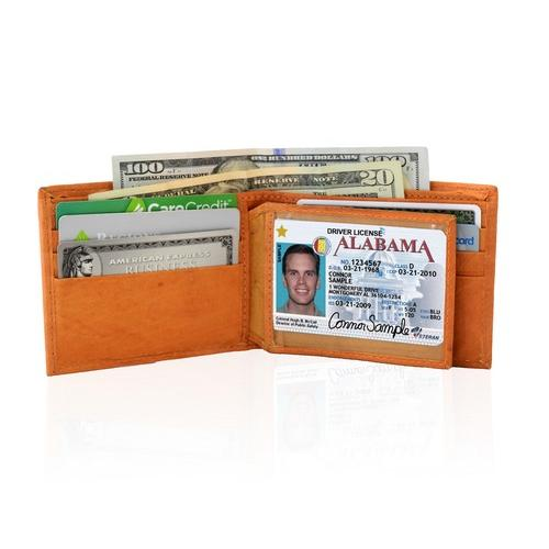 AFONiE Genuine Leather Bifold Wallet For Men