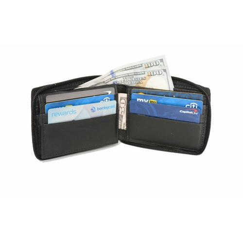 AFONiE Zipped Soft Leather Bifold Wallet