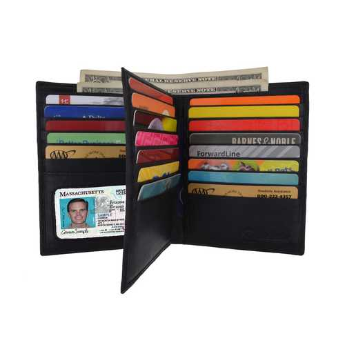 Men Leather Wallet With Multi Card Slots - Assorted Colors