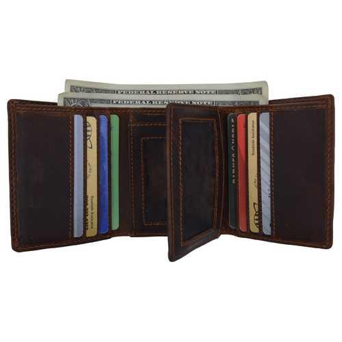 Distressed Brown Vintage Leather Wallet