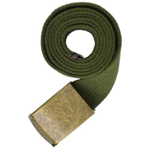 Gold Buckle Long Adjustable Canvas Belt for Men-Assorted Colors