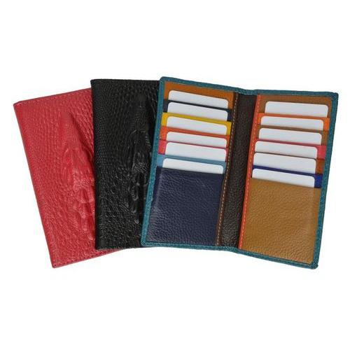 New Fashion Croco Embossed Credit Card Holder Assorted Colors