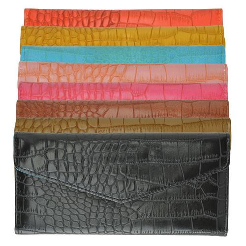 Croco Print Fashion Coorful Ladies Wallet/ Clutch