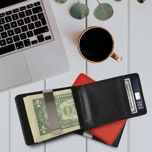 Minimalist Leather Money Clip Wallets