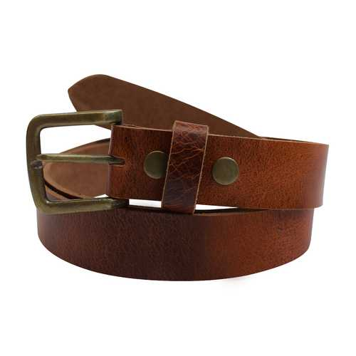 Rustic 100% Cowhide Leather Belt- Large Sizes