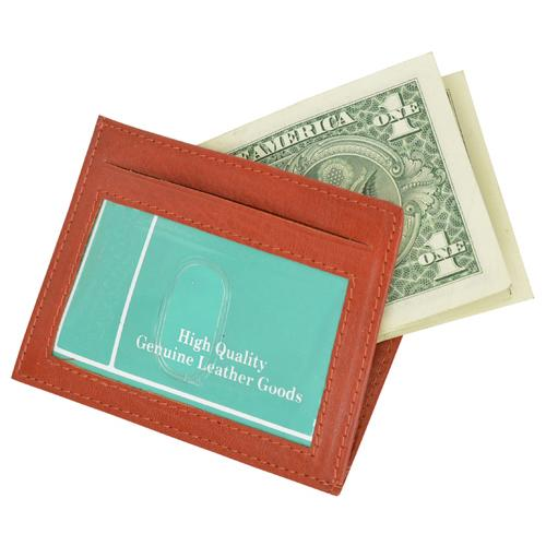 Genuine Leather Slim Credit Card Holder