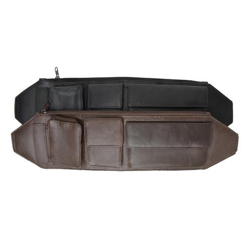 Genuine Leather Money Belt Pouch