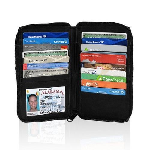 AFONiE RFID-Blocking Durable Genuine Leather Men's Credit Card Holders