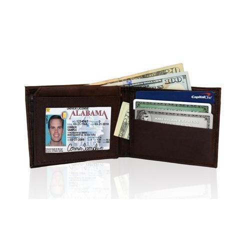 AFONiE RFID-Blocking Genuine Leather Bi-fold