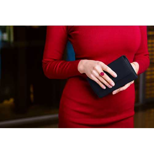 Leather RFID Women Wallet