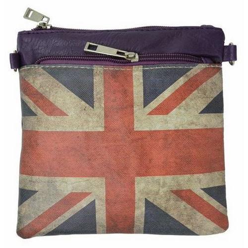 UK Flag Mini Square Designer Crossbody Handbag