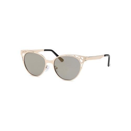 Gold Eyeshine Fashion Revo Red Lens Glasses
