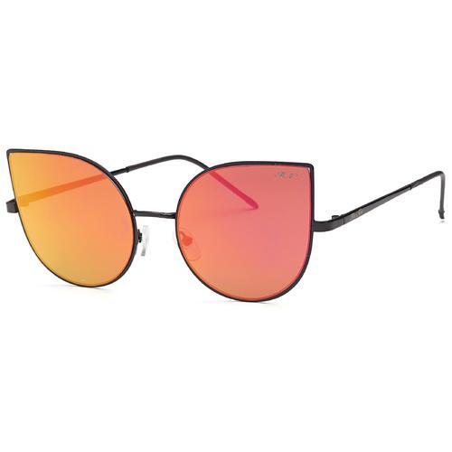 Brown Fashion Teardrop Mirror Flat Lens Metal Frame Sunglasses