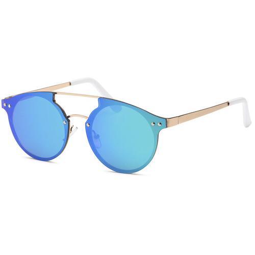 Blue Retro Shine Summer Sunglasses