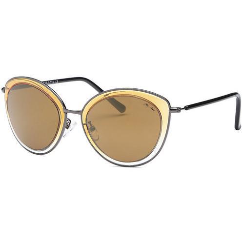 Brown Fashion Sunglasses Clear Frame