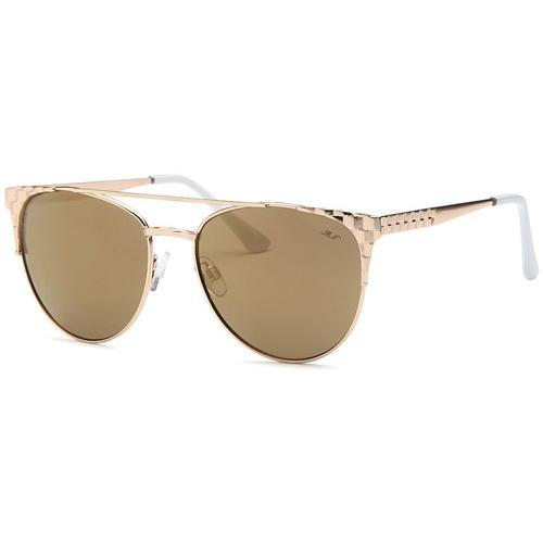 Gold Frame Smoke Fashion Designer Sunglasses