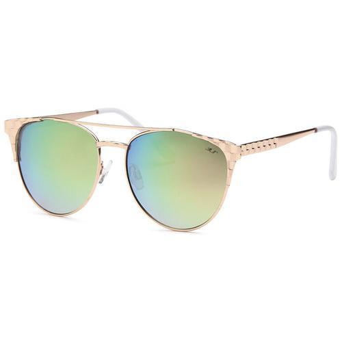 Green Lens Gold Frame Smoke Fashion Designer Sunglasses