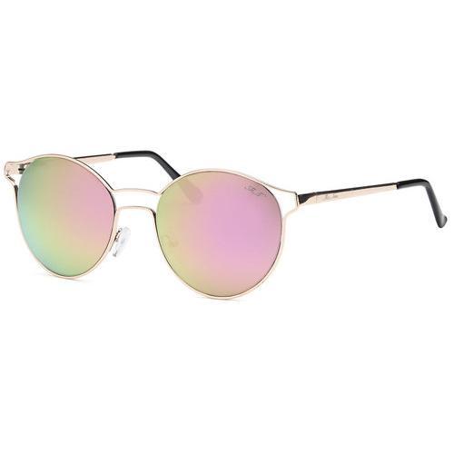 Gold Fashion Designer Sunglasses Round Frame