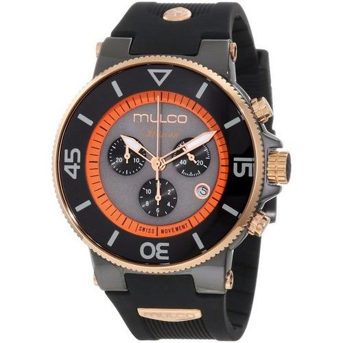 MULCO Unisex MW3-11009-028 Ilusion Ceramic Chronograph Swiss Movement Watch