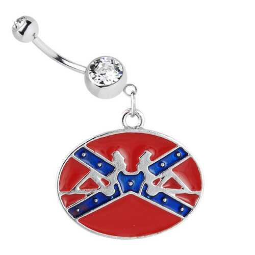 Belly Ring Rebel Dangling Confederate Flag
