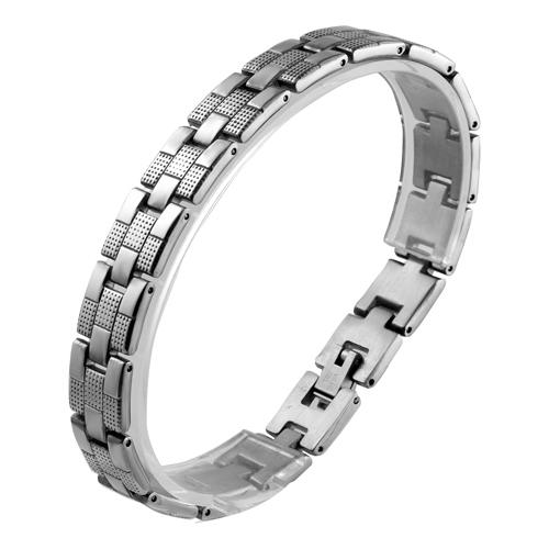 Masculine Style Stainless Steel Braid Link Bracelet for Men