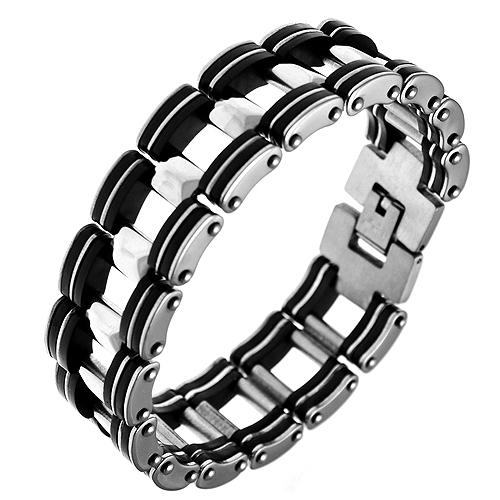 Men's Link Bracelet in Stainless Steel