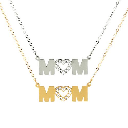 Heart Shaped Mom Necklace