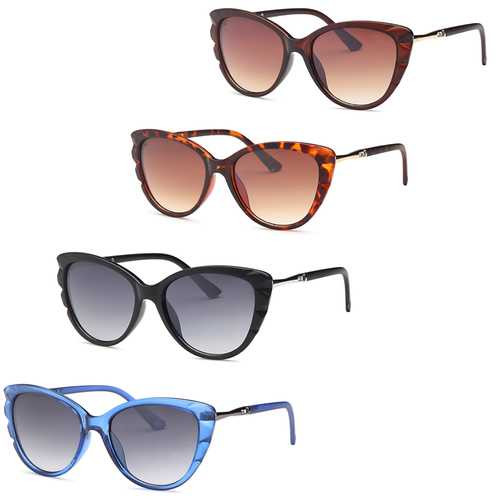 Butterfly Fashion Style Frame Sunglasses -Pack of 4